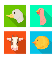 design of agriculture and breeding icon vector image
