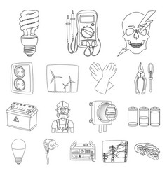 design of electricity and electric logo vector image