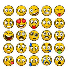 Emoji and sad icon set vector