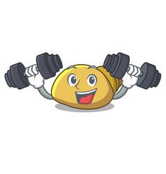 Fitness mollusk shell character cartoon vector