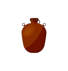 Flask with water in a flat style for camping vector