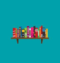 flat bookshelf icon modern design vector image