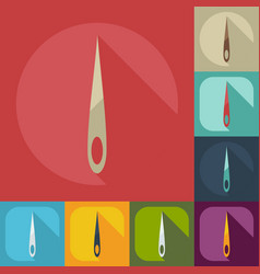 Flat modern design with shadow icons needle vector