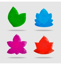 flowers in a triangular style vector image