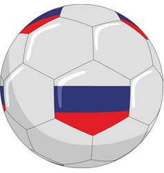 football with the symbols of the russian flag vector image