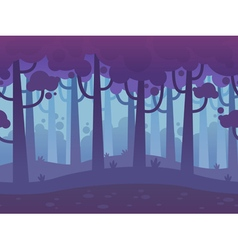 Game Seamless Horizontal Forest Background vector image