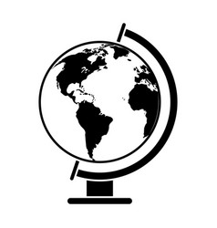 Globe world map pictogram vector