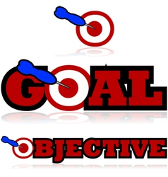 Goals and objectives vector