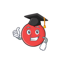 Graduation bowling ball character cartoon vector