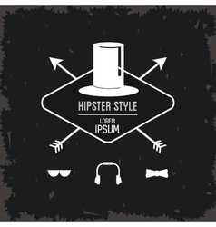 Hat icon Hipster style design graphic vector