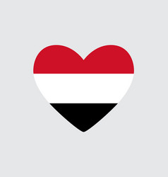 Heart in colors of the egypt flag vector