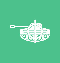Icon tank at gunpoint vector