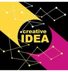 Idea concept creative background vector image