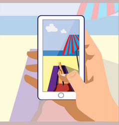 In my phone vatical on vacation vector