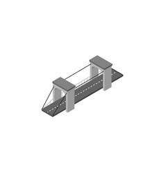 isolated bridge isometric highway element vector image