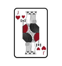 Jack of hearts french playing cards related icon vector