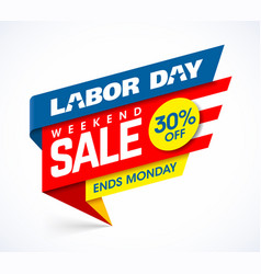 labor day weekend sale banner design vector image