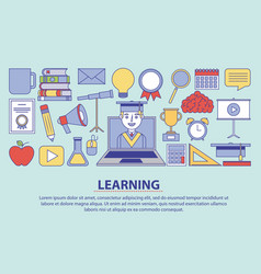 learning education concept vector image