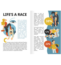 Life race infographics vector