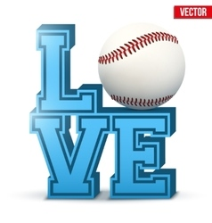 Love baseball inscription vector