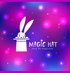 Magic hat logo vector