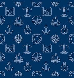 marine dark blue seamless pattern vector image