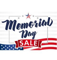 Memorial day usa sale banner vector