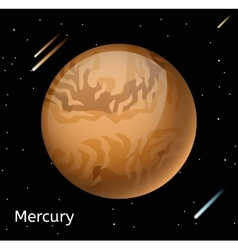 Mercury planet 3d vector