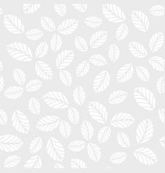 monochrome seamless pattern with leaves vector image