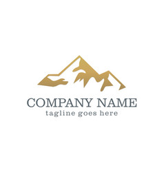 Mountain abstract company logo vector