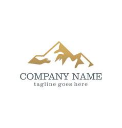 mountain abstract company logo vector image