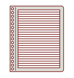 notebook paper with horizontal lines in colorful vector image