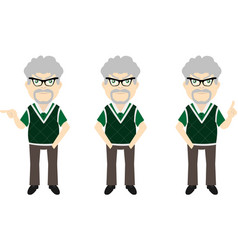 Old man set v1d vector
