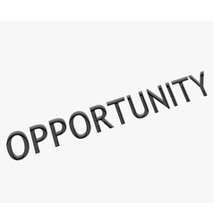 Opportunity text design vector