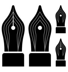 Ornate ink pen nibs vector