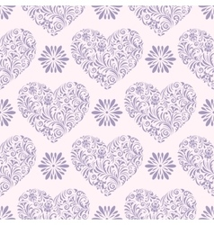 pattern with abstract hearts vector image