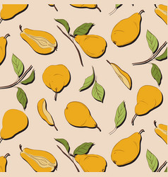 Pear organic background image fresh fruit vector
