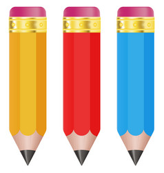 pencils colored set vector image