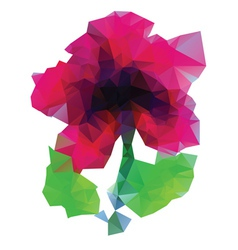 Polygonal purple flower vector