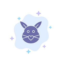 rabbit bunny love cute easter blue icon on vector image