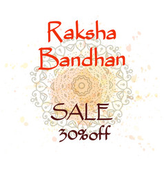 raksha bandhan sale creative background vector image