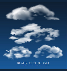 realistic clouds in blue sky vector image