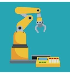 robotic production line mechanic manufacture vector image