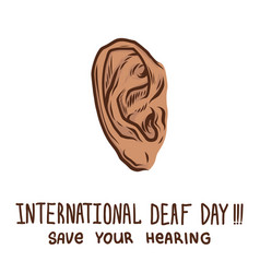 save your ear concept background hand drawn style vector image
