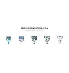 search engine optimization icon in different vector image