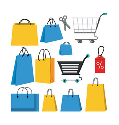 set shopping store vector image