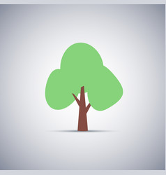 simple flat tree icon with shadow eps10 vector image