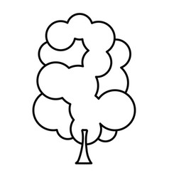 Sketch silhouette tree with several crown leaves vector