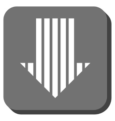 Stripe Arrow Down Rounded Square Icon vector