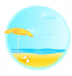 summer banner with umbrella vector image